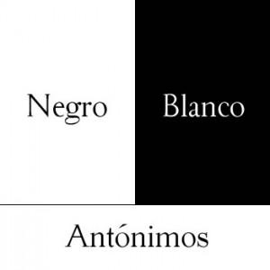 Antónimos, blanco y negro