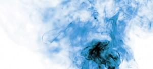 Gas de color azúl