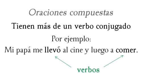 Oración compuesta con dos verbos
