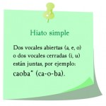 hiato simple, ca-o-ba