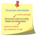 oraciones adverbiales