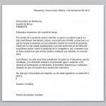 EJemplo de carta para solicitar una beca