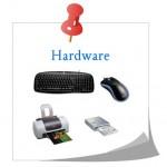 Hardware componentes que se pueden tocar.