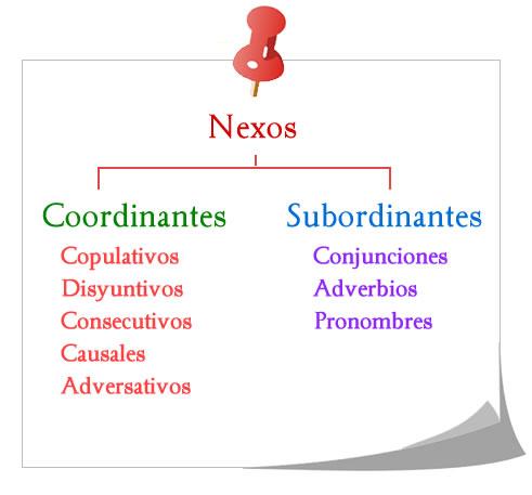Nexos coordinantes y subordinantes.