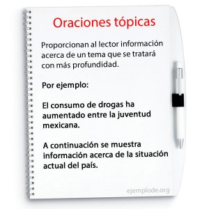 oraciones topicas