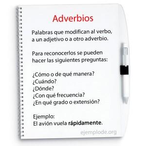 Preguntas para ubicar a un adverbio.