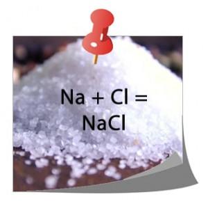 Na + Cl = NaCl (Cloruro de sodio)