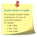 Pasado simple en inglés. Se agrega D o ED a la terminación del verbo regular.