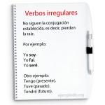 Conjugación de verbos irregulares.