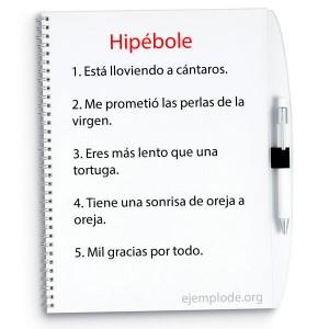 Ejemplos de hipérbole
