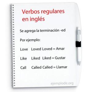 Ejemplos de verbos regulares en inglés