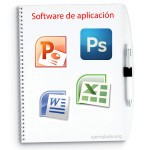 Ejemplos de software de aplicación, Excel, Word, Powerpoint y Photoshop