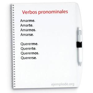 Ejemplo de verbos pronominales