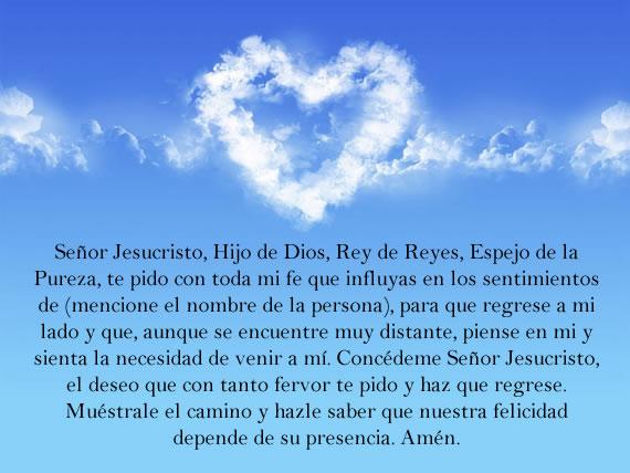 Oración para recuperar el amor