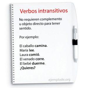 Ejemplos de verbos intransitivos